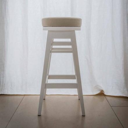 Stołek design z lakierowanego drewna bukowego H 78 cm, Harvey