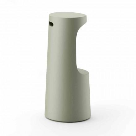 Wysoki design stołka z matowego polietylenu na zewnątrz Made in Italy - Forlina