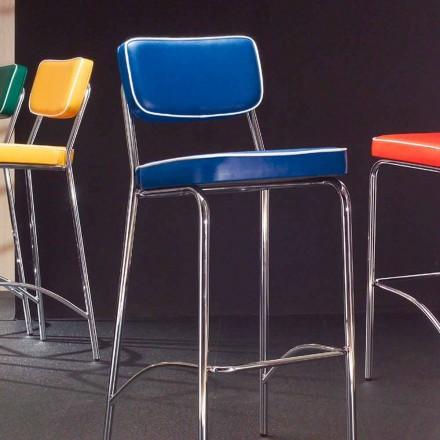 Krzesło hoker z lat '50 z sztucznej skóry model Unica