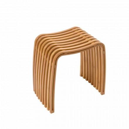 Gorizia - gorący, zakrzywiony bambusowy taboret