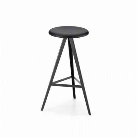 Luksusowy stołek z metalu i litego jesionu Made in Italy, 2 sztuki - Ulm