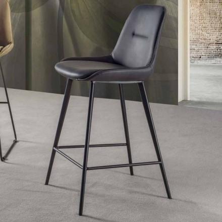 Stały stołek wys. 65 cm, konstrukcja z 4 metalowymi nogami - ines