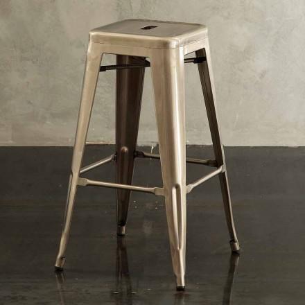 Nowoczesny stołek metalowy Roxanne