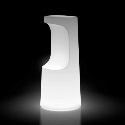 Świecący stołek zewnętrzny z polietylenu ze światłem LED Made in Italy - Forlina