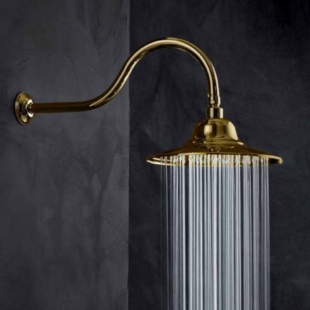 Klasyczna stalowa głowica prysznicowa z mosiężnym ramieniem prysznicowym Made in Italy - Jeko