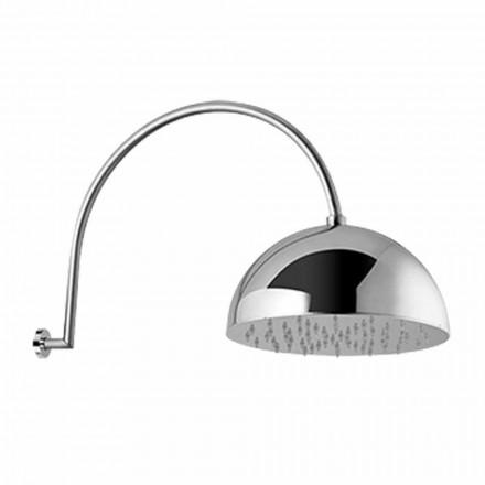 Głowica prysznicowa ze stalowym dzwonkiem i ramieniem łukowym Made in Italy - Auro