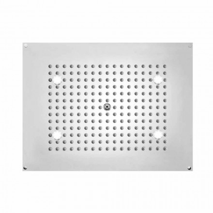 Bossini Deszczownica prostokątna 1 strumieniowa z światłem LED