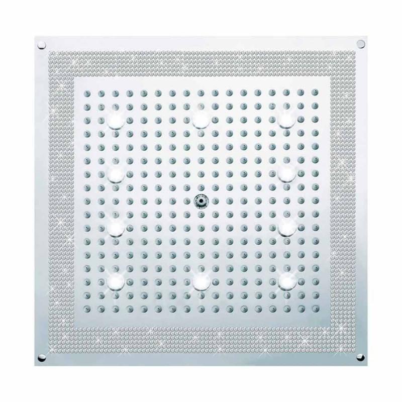 głowica prysznicowa z oświetleniem LED i dekoracje w Swarovski Bossini snu