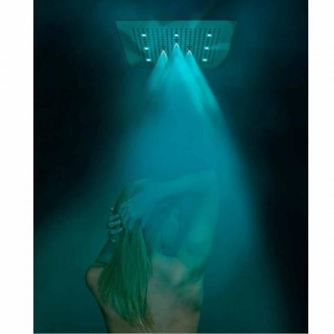 głowica prysznicowa sufitowa z chromoterapią i dwie dysze Sen Neb