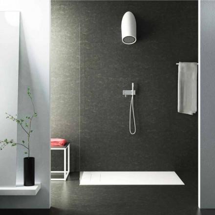 Nowoczesna głowica prysznicowa ścienna Luxolid wykonana w 100% we Włoszech, Rubano