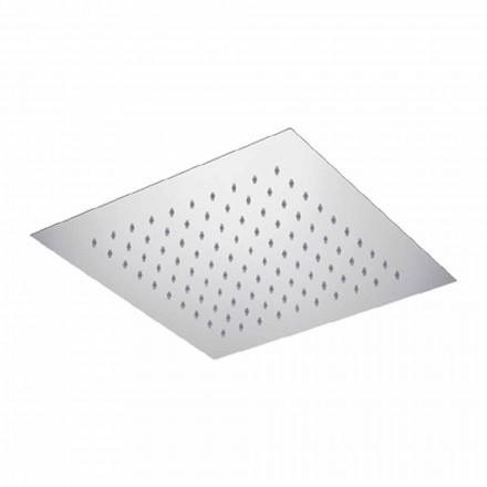Kwadratowa sufitowa głowica prysznicowa ze stali Made in Italy - Starch