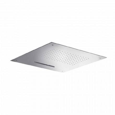 Wysokiej jakości kwadratowa głowica prysznicowa ze stali nierdzewnej Made in Italy - Nello