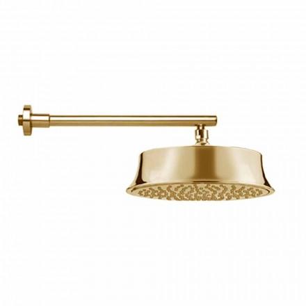 Okrągła głowica prysznicowa z mosiądzu w stylu klasycznym Made in Italy - Betto