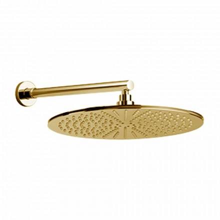 Okrągła głowica prysznicowa ze stali nierdzewnej i mosiądzu Made in Italy - Aurelio