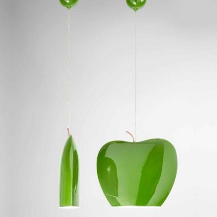 Zawieszenie w ceramice o kształcie jabłka - owoce Aldo Bernardi