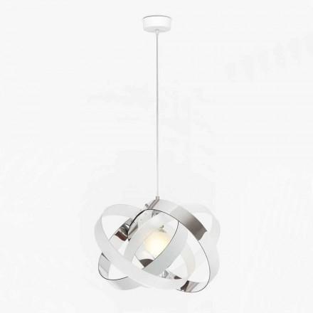 Lampa wisząca design z dwukolorowego metakrylanu, średnica 56 cm Ferdi