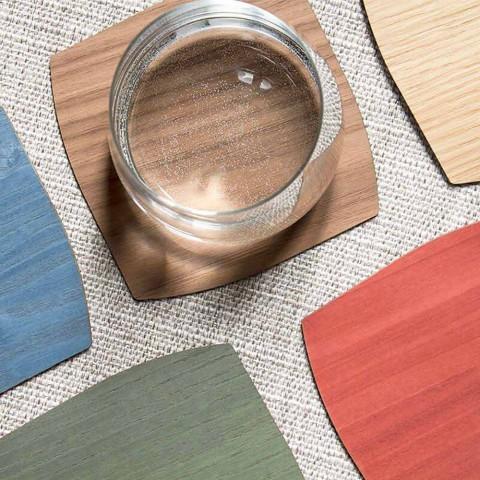 Nowoczesna drewniana kwadratowa podstawka Made in Italy - Abraham