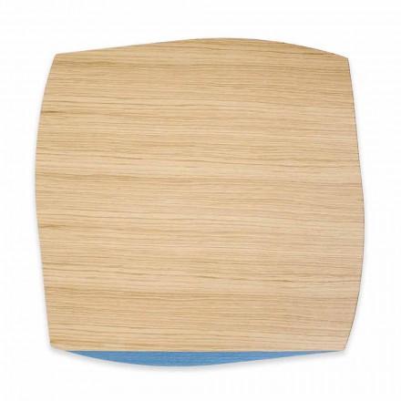 Nowoczesna kwadratowa podkładka z drewna dębowego Made in Italy, 4 sztuki - Abraham