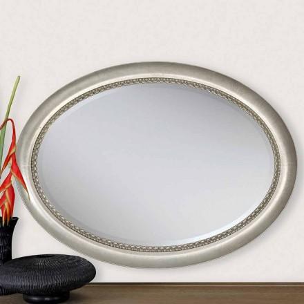 Nowoczesne drewniane lustro ścienne, produkowane we Włoszech, Edoardo