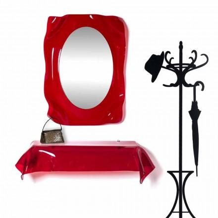Diva czerwony nowoczesny design lustro ścienne, wykonane we Włoszech