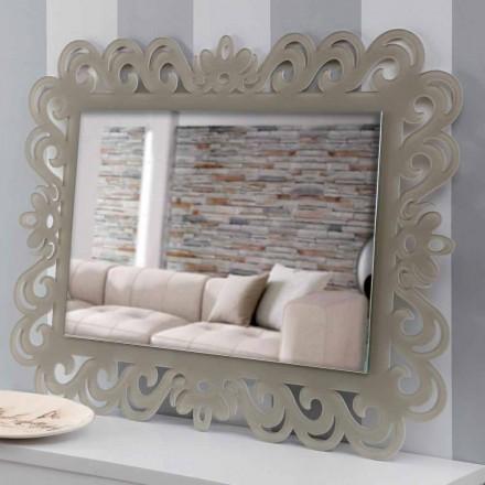 Nowoczesne, prostokątne lustro ścienne w pleksi Tortora - Selly
