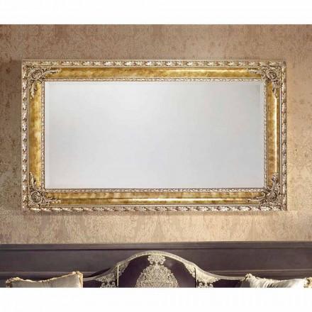 Prostokątne lustro ścienne z nowoczesnymi liniami, wyprodukowane we Włoszech, Umberto