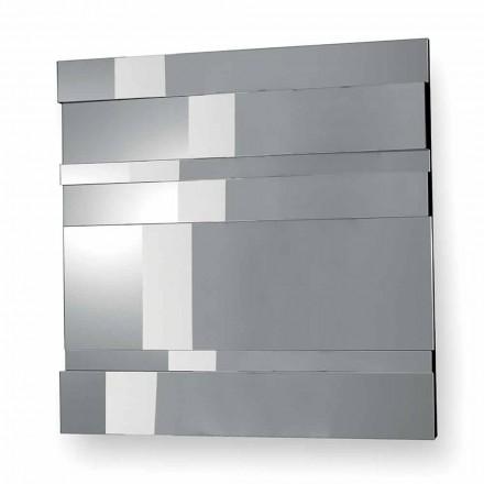 Nowoczesne lustro ścienne w szkle i metalu Made in Italy - Pallino