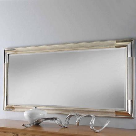 Nowoczesne lustro ścienne wykonane z drewna, wyprodukowane całkowicie we Włoszech, Piera