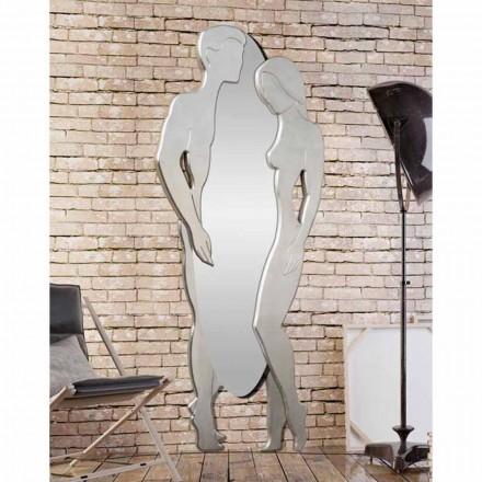 Lustro ścienne z płyty mdf design Man&Woman