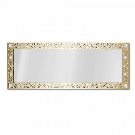 Lustro ścienne w złotej, srebrnej lub brązowej pleksi z ramką - nektar