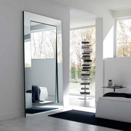 Prostokątne nowoczesne lustro wolnostojące Made in Italy - Salamina