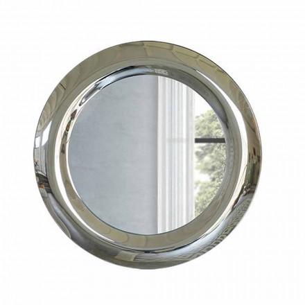 Duże lustro ścienne z kryształowym wykończeniem Made in Italy - Stilla