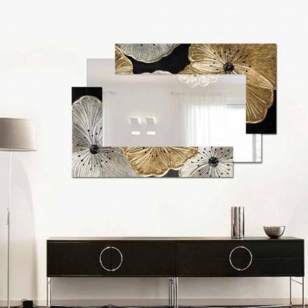 Lustro dekoracyjne na ścianę Petunia Oro Scomposta Piccola