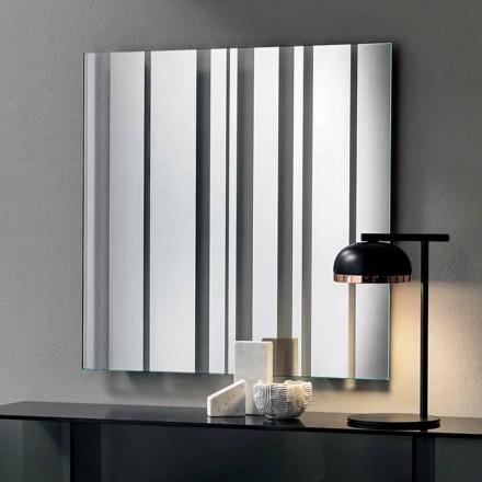 Nowoczesne lustro ścienne w kształcie kwadratu Made in Italy - Coriandolo