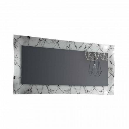 Prostokątne lustro ze szklaną ramą Made in Italy - Eclisse