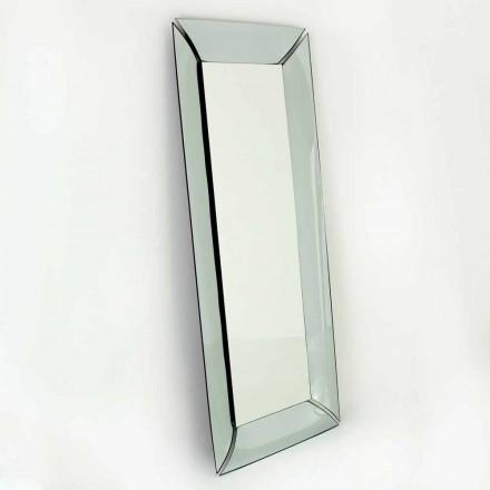 Duże prostokątne lustro w krysztale Made in Italy Design - Twin