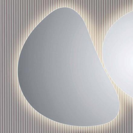 Lustro łazienkowe naścienne z podświetleniem LED Pirro