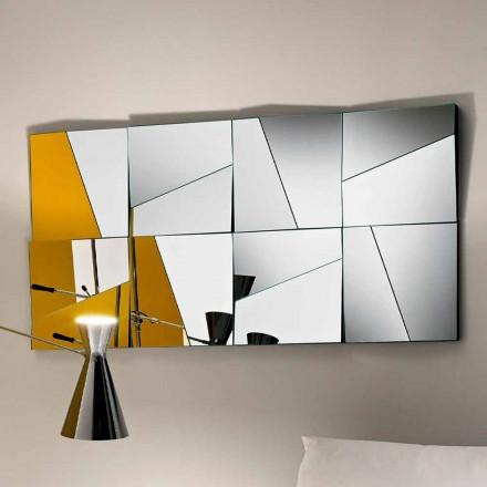 Modułowe lustro ścienne z wklęsłymi i wypukłymi lustrami Made in Italy - Allegria