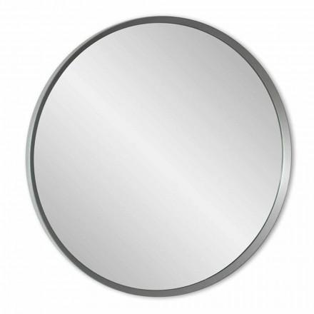 Okrągłe lustro ścienne z lakierowaną ramą o eleganckim nowoczesnym designie - Odosso