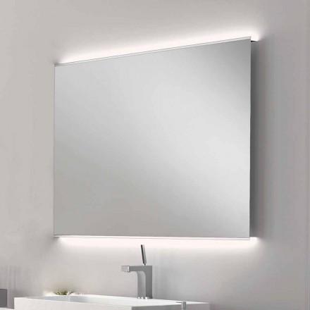 Lustro łazienkowe z nowoczesnym designem LED z satynowymi krawędziami Veva