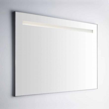Ścienne lustro łazienkowe z ramą z aluminium Simil Made in Italy - Tobi