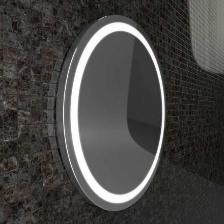 Lustro z krawędziami ze stali nierdzewnej i nowoczesnymi diodami Charly LED