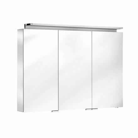 Lustro łazienkowe z szafką 3-drzwiową z półkami wewnętrznymi - Bramo