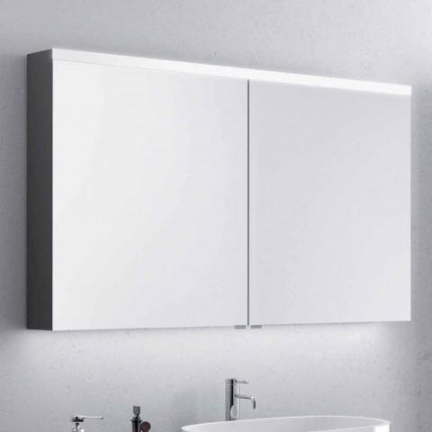 Dwudrzwiowe lustro łazienkowe z diodami LED, nowoczesny design, Carol