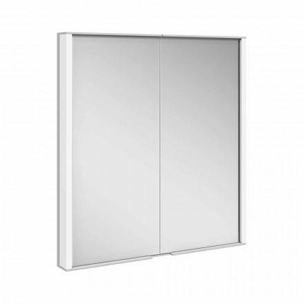 Szafka z lustrem z aluminium malowanego na srebrno, nowoczesna - Demon