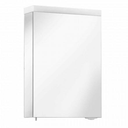 Pojemnik z lustrem z drzwiami na zawiasach i oświetleniem LED, wysoka jakość - Alfio