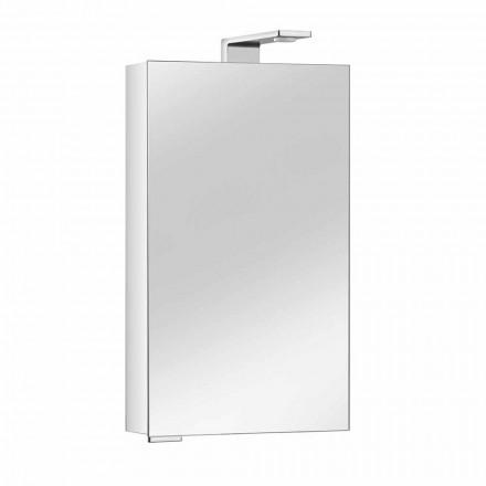 Szafka z lustrem z kryształowymi drzwiami i chromowanymi detalami, nowoczesna - Maxi