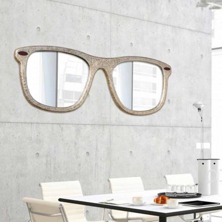 Lustro ścienne design okulary design, model Glass