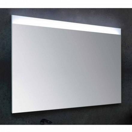 Lustro łazienkowe z nowoczesnym oświetleniem LED Yvone