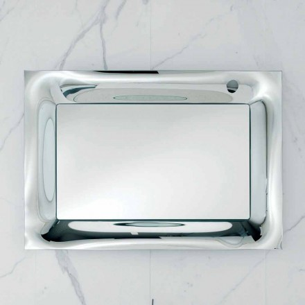 Rama lustra łazienkowego srebrny stopiony szkło nowoczesny design Arin